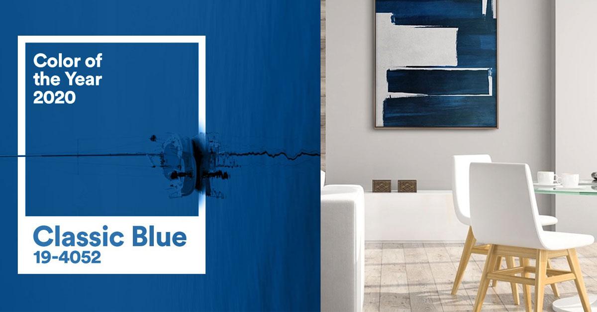 Culoarea anului 2020 Classic Blue – tendinte in amenajare interioara