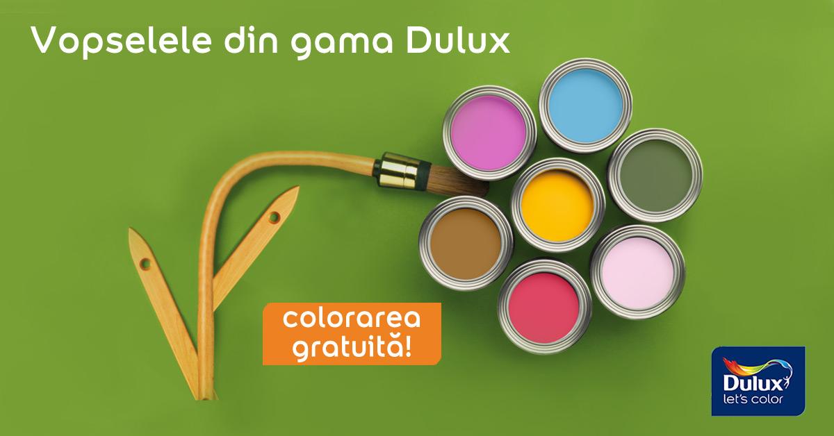 Vopselele din gama Dulux - colorare gratuita