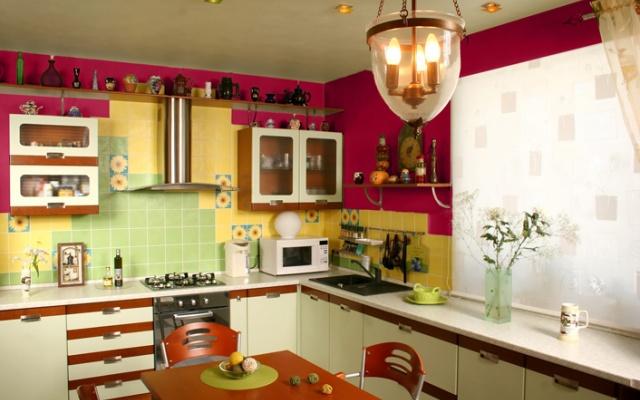 Culori indraznete pentru bucatarie